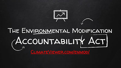 The Environmental Modification Accountability Act #EMAA