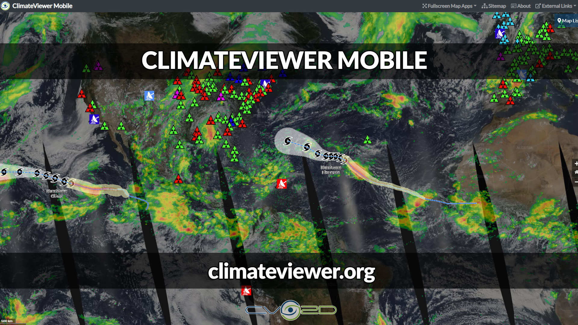 ClimateViewer Mobile | Geophysical Monitoring & Educational Maps