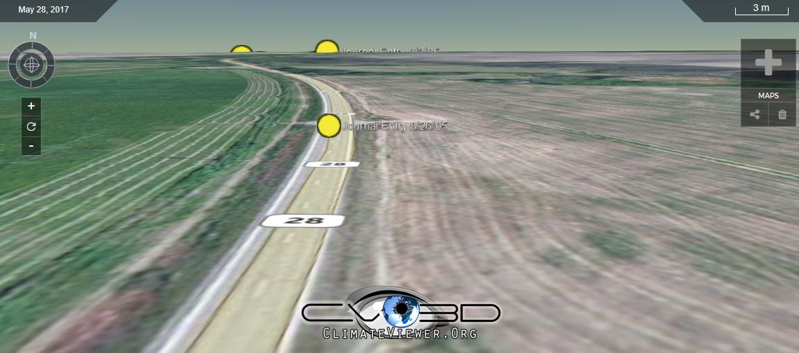 ClimateViewer 3D example map
