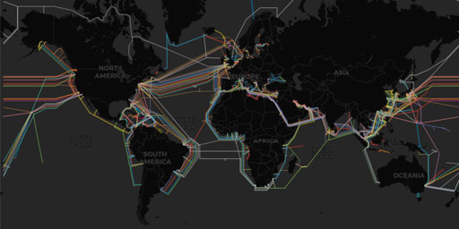 Interactive Map of Submarine (underwater) Telecommunication Cables